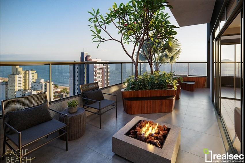 A0309 – Eagle Beach Residencial – apartamentos com uma suíte mais um quarto.